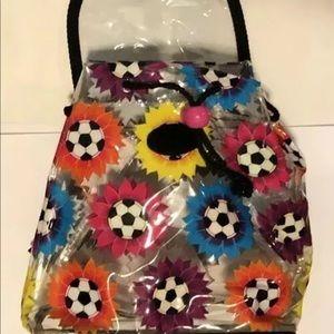 Lisa Frank Bags - Lisa Frank Soccer ⚽️ Mini Backpack Bag 90s Clear